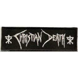 Christian Death Embroidered Patch