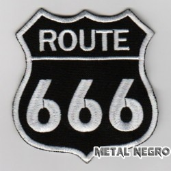 Route 666 embroidered patch