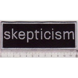 Skepticism embroidered patch
